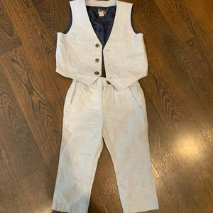 Children's Place - woven blue vest and pants